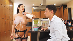 Big tittied pornsatar Angela White  in sexy lingerie - your daydreams!