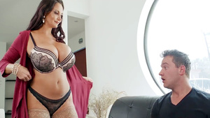 Horny mom sucked cock of panty bandit - starring busty milf Ava Addams!