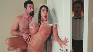 Best porn tubes with hot babe fuck August Taylor at the bride!