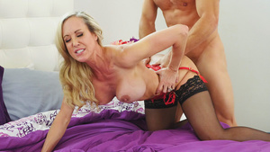 Married MILF Brandi Love cheats her husband with another dick!