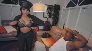 Bad Cop hottie Lela Star sucking Big Black Cock