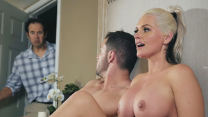 Hot stepmom fucks with stepson - Alena Croft gets facial cumshot!