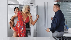 Blonde bombshell housewife, Nicolette Shea cheating her husband!