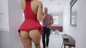 Sexual blonde nympho Stella Raee is sucking big dick!