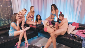 Latina Luna Star assfucked by businessman in front of team of girls!