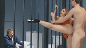 Horny AJ Applegate fucked in ass in the prison!