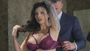 Ivy Lebelle undresses sexy lingerie and sucking cock!