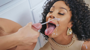 Fuck horny MILF Misty Stone and cum on her cute face!