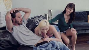 Alana Cruise teaches her adopted daughter Carolina Sweets how to suck dick!