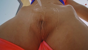 Sexy Latina Lasirena69 oiled bald pussy big tits teasing and fuck!