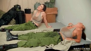 Sexy soldiers Alexis Fawx and Olive Glass lsbian HD porn tubes.