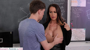 Horny teacher Mckenzie Lee fucks her student in school porno mobile free