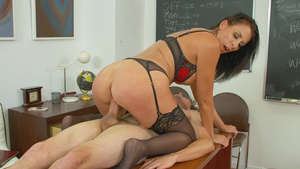 Teacher fucks with student - Reagan Foxx in free milf porn videos!