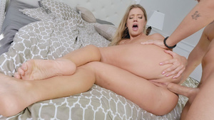 Curvy blonde Candice Dare anal fucked in her fat ass!
